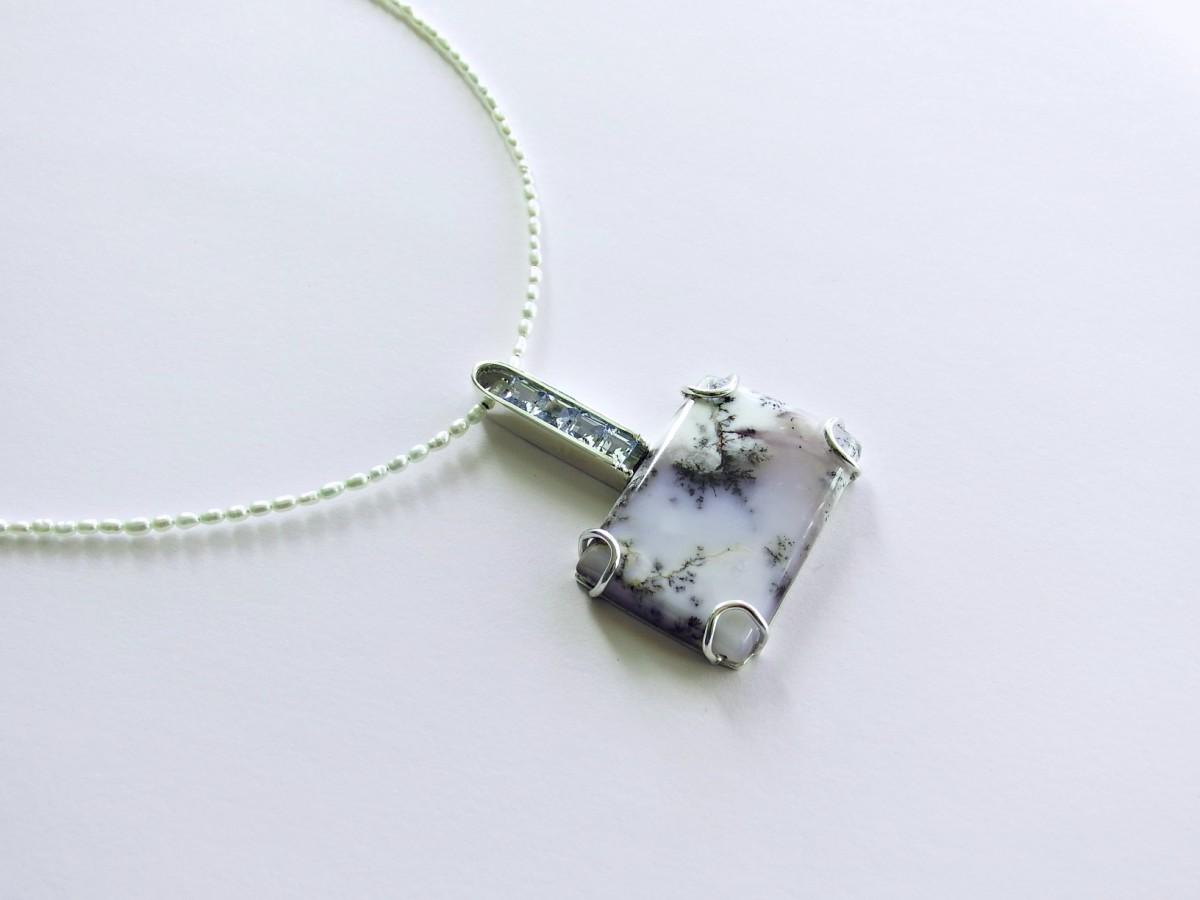 Dendritic agate pendant alex thiel designs dendritic agate pendant dendritic aloadofball Choice Image