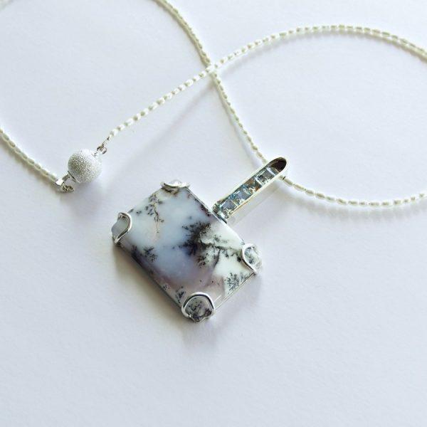 Dendritic agate pendant2