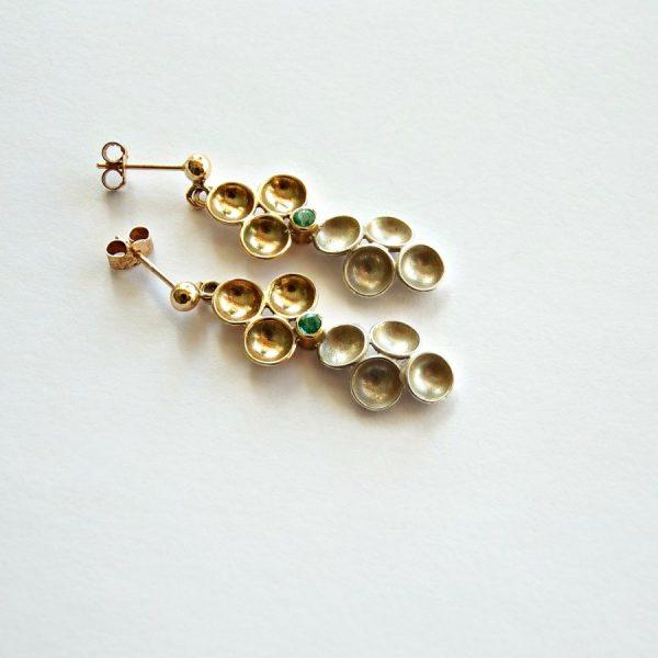 Monica emerald earrings