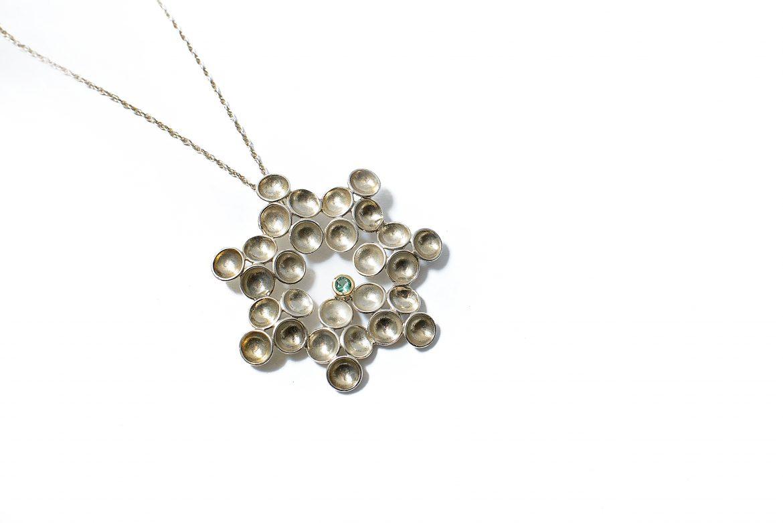 jewellery-goldsmith-Cork-Ireland-Alex Thiel Designs snowflake pendant